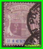 MAURITIUS  ( AFRICA )  SELLO  AÑO 1895 COAT OF ARMS - Mauritania (1960-...)
