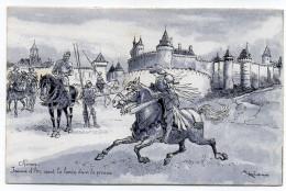 Histoire--Jeanne D´Arc--illustrateur  ROBIDA--Chinon--Jeanne D'Arc Court La Lance Dans La Prairie - Histoire
