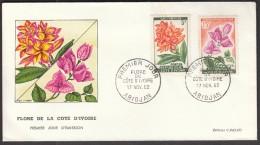 Ivory Coast Abidjan 1962 / FDC / Flowers - Flora
