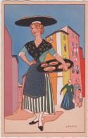 06 - Nice - Au Pays Niçois Par Henri Pertus - Marchande De Pissaladiera - Editeur: Artistiques Parisiens N°1 - Artigianato
