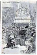 Histoire--Jeanne D´Arc--illustrateur  ROBIDA---Chinon--Jeanne D'Arc  Recevant Le Roi - Histoire
