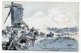 Histoire--Jeanne D´Arc--illustrateur  ROBIDA-- Jeanne D´Arc Devant Paris ,escarmouche Près De La Porte St Denis (moulin) - History