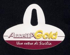 # UVA ACCETTA GOLD SICILIA GRAPE Italy Fruit Tag Balise Etiqueta Anhänger Cartellino Raisin Uvas Traube - Fruits & Vegetables