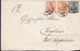 INFLA  DR 85 II A, 2x 99 B MiF Auf Brief, Stempel: Berlin 2.3.1920 - Infla