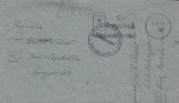 Feldpost, Briefumschlag, Mit FeldpostStempel: SSS Albert Leo Schlageter, Postst: (Kiel) 4.12.1944 - 1939-45