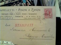 TRENTO DITTA CAPPELLETTI PISONI E ZANON  DROGHE PRODOTTI CHIMICI X FARMACIE  VB1922 FN3616 - Trento