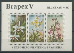 Brasilien 1982 Briefmarkenausstellung, Blumen Block 49 Postfrisch (C22814) - Brazil