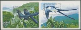 Grenada 1990 Vögel: Ani, Gabeltyrann Block 257/58 Postfrisch (C71212) - Grenada (1974-...)