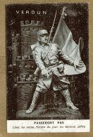 """Militaria.   """"Passeront Pas""""... L'ordre Du Jour Du Général Joffre - Patriotiques"""