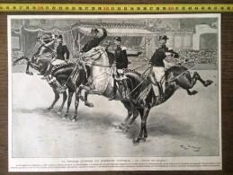DOCUMENT ANNEE 1900 LA GRANDE JOURNEE DU CONCOURS HIPPIQUE PAR GEORGES SCOTT - Stamps