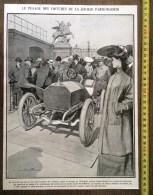 DOCUMENT ANNEE 1900 PESAGE DES VOITURES COURSE AUTOMOBILE PARIS MADRID LOUIS SABATTIER - Stamps