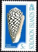 Conus Marmoreus Solomon Islands Mnh Stamp - Coneshells