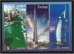 United Arab Emirates UAE Dubai 3 Picture Postcard Dubai The New Face With Stamp Birds Eagle Animal  Post Card - Dubai