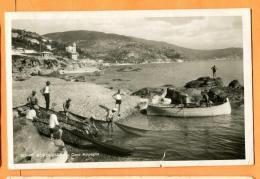 MAU-20  Bordighera  Capo Ampaglio. Barques De Pêcheurs Retirant Leurs Filets. Circulé 1940 Vers La Suisse. Petite Fente - Imperia
