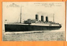 MAU-24 Le Havre, Paquebot PARIS  Compagnie Transatlantique. Circulé En 1908 Avec Timbres Anglais - Paquebots