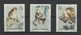 Chine China 1963 Yv.1498/1500 ** Singes Monkeys Ref S60 - Nuovi