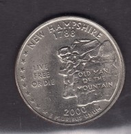 2000.new Hamphire Quarter Dollar - 1999-2009: State Quarters