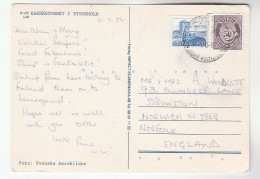 1986 NORWAY Stamps COVER (postcard Kaknastornet TELEVISION TOWER, STOCKHOLM) - Norway