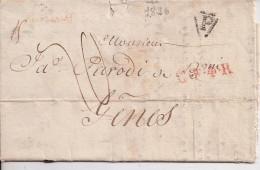 PARIS       Precurseur De  1826    Vers GENES - Marcophilie (Lettres)