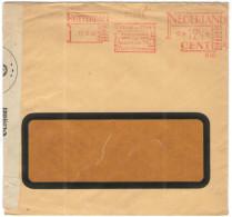 OLANDA - NEDERLAND - Paesi Bassi - 1940 - EMA, Red Cancel - Opened Passed By Censor Wehrmacht - Viaggiata Da Rotterda... - Affrancature Meccaniche Rosse (EMA)