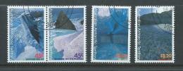 Australian Antarctic Territory 1996 Landforms Set 4 FU Melbourne CTO , 1 With Short Perf. - Territorio Antartico Australiano (AAT)