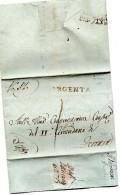 1824 LETTERA CON ANNULLO ARGENTA FERRARA - 1. ...-1850 Prefilatelia