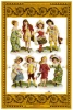 SCRAPS A24 Children Enfants Victoriens Sheet Decoupis Feuille Mamelok Decoupage Glanzbilder Oblaten Victorian - Scrapbooking