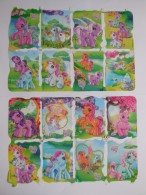 SCRAPS MLP 2037/28 My Little Pony 2 Sheets Glanzbilder Oblaten Mamelok Cardmaking Decoupage Die-Cuts Children's Projects - Scrapbooking
