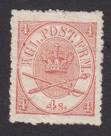 Denmark, Scott #13, Mint No Gum, Royal Emblems, Issued 1864 - 1851-63 (Frederik VII)