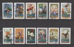 """FRANCE / 2015 / Y&T N° AA 1120/1131 : """"Bouquets""""  (Série Complète 12 TP) - Choisis - Tous Cachet Rond - Luchtpost"""