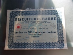 BISCUITERIE BARBE (1930) Bédarieux , Hérault - Shareholdings