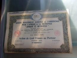 Industrielle Agricole & Commerciale Pour L'afrique & La Metropole (1930) - Actions & Titres