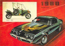 Pontiac 1980 - Ford T 1912 - Carte Non Circulée - Voitures De Tourisme