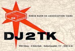 Amateur Radio QSL Card - DJ2TK - Germany - 1968  - 2 Scans - Radio Amateur