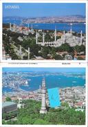 12 Colour Views Of Istambul - Carnet De 12 Cartes En Accordéon: Mosquée, Galata Bridge... - Keskin Color - Turquie