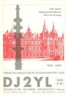 Amateur Radio QSL Card - DJ2YL - Germany - 1968 - 2 Scans - Radio Amateur