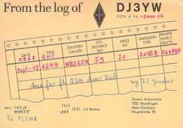 Amateur Radio QSL Card - DJ3YW - Germany - 1968 - Radio Amateur