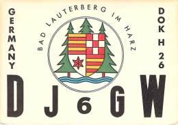 Amateur Radio QSL Card - DJ6GW - Germany - 1968 - 2 Scans - Radio Amateur