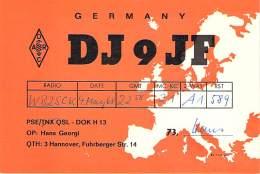 Amateur Radio QSL Card - DJ9FF - Germany - 1968 - Radio Amateur