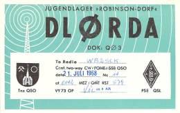 Amateur Radio QSL Card - DL0RDA - Germany - 1968 - 2 Scans - Radio Amateur
