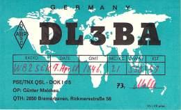 Amateur Radio QSL Card - DL3BA - Germany - 1968 - Radio Amateur