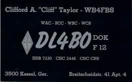 Amateur Radio QSL Card - DL4BO - Germany - 1968 - 2 Scans - Radio Amateur