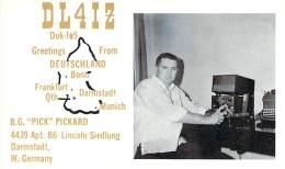 Amateur Radio QSL Card - DL4IZ - Germany - 1968 - 2 Scans - Radio Amateur