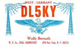 Amateur Radio QSL Card - DL5KY - Germany - 1968 - 2 Scans - Radio Amateur