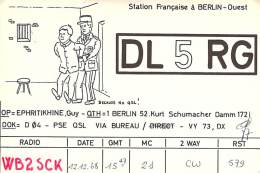 Amateur Radio QSL Card - DL5RG - Germany - 1968 - Radio Amateur