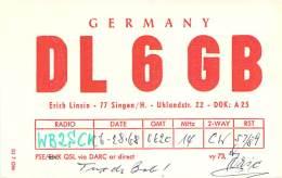 Amateur Radio QSL Card - DL6GB - Germany - 1968 - Radio Amateur