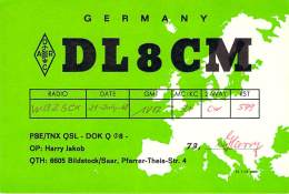 Amateur Radio QSL Card - DL7CM - Germany - 1968 - Radio Amateur