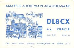 Amateur Radio QSL Card - DL7CX - Germany - 1968 - 2 Scans - Radio Amateur