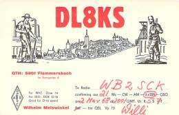 Amateur Radio QSL Card - DL8KS - Germany - 1968 - Radio Amateur