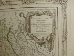 CARTE ITALIE ETATS DU ROY DE SARDAIGNE DE MILAN PARME ET GENES PAR BRION DE LA TOUR 1766 - Carte Geographique